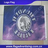 Irgendein Logo Available Custom Company, die Markierungsfahne und Fahne bekanntmacht