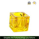 Supporto di vetro variopinto di Tealight del cubo