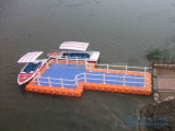 Muelle del yate el pontón de flotación