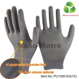 White PU Coated Palm Fit Top Fit PPE Work Safety Glove