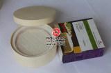 Caja grande de queso redondo de madera antigua con el precio de fábrica