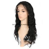 Парики шнурка Glueless перуанской объемной волны человеческих волос полные