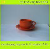 Taza y platillo de café de cerámica de la venta caliente de la venta al por mayor de la fábrica de China