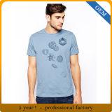 T-shirt bon marché 100% estampé par chemise de circuit d'été de coton pour les hommes