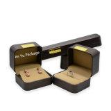 شوكولاطة لون [رووند كرنر] [لهتر] حلق هبة مجوهرات يعبّئ صندوق