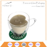 熱の抵抗のコーヒーカップの飲むガラスのコップ