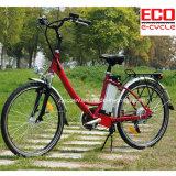 Bici de la ciudad para la señora con la bicicleta eléctrica de la batería de litio