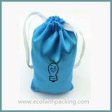 Черный Silk выдвиженческий мешок ювелирных изделий сатинировки Drawstring мешка подарка сатинировки