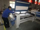 Изготовление 80W Гуанчжоу удваивает головной автомат для резки лазера для тканья