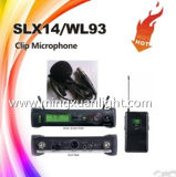 Microphone sans fil professionnel d'écouteur de la fréquence ultra-haute Slx14/Wh93