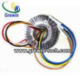 電子メートルおよび器具のための単一フェーズの円環形状の変圧器