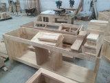 2017 Vaivém de banheiro de madeira maciça tradicional com pia de vaso único Mármore montado no chão Asv1010