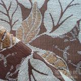Tela de Chenille teñida hilado del telar jacquar con el modelo de la hoja