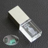 Kristal USB Flash Drive met 3D Inner Engrave Logo (w-Cu-002)