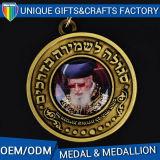 Metal 2D da alta qualidade ou medalha ou medalhão feito sob encomenda de ouro 3D