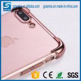 Shock Absorption Flexível TPU Bumper Anti-Scratch Slim Protector Clear Back Cover para iPhone 6 / 6s Plus