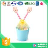 Multi saco de lixo plástico da fita da tração da cor para o lixo