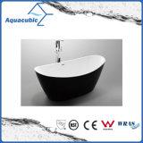 Vasca da bagno acrilica indipendente ovale di bordi neri (AB1507B-1500)