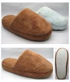 柔らかい最下の美しい屋内カラー格子縞のマフラーの綿のスリッパ(25ta7058)