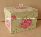 Mano personalizzata che vernicia casella di legno solida per la decorazione domestica