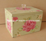 Caixa de madeira da decoração da HOME do desenho da mão