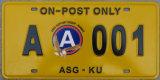 쿠에이트 자동차 면허증 격판덮개/번호판/차량 격판덮개