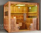 فنلندا أسلوب منزل تقليديّ خشبيّة [سونا] غرفة ([م-6046])