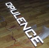 내부의 3D LED 광 채널 편지 표시