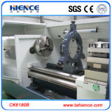 Torno elevado Ck6180b da maquinaria do CNC da base lisa da velocidade do eixo