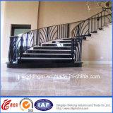 Escalera de madera de acero de interior decorativa