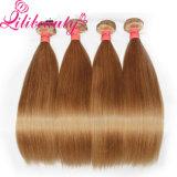Weave brasileiro reto do cabelo de Remy do Virgin do cabelo da cor de Peru da classe elevada