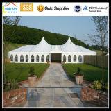Tenda do circus grande ao ar livre do evento do banquete de casamento do famoso do PVC da abóbada do pico elevado do hexágono dos povos por atacado do vidro 1000 do PVC do jardim