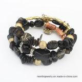 Heißes Verkaufexoticism-mit veränderbarer Längearmband-mehrschichtiges Mehrfarbenstein-Armband