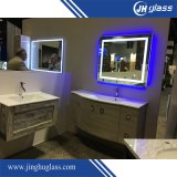 Miroir argenté/en aluminium de DEL pour la salle de bains avec le détecteur de contact