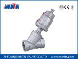 Fabricant en Chine Valve de siège à angle de commande à pistons en acier inoxydable avec fonctionnement actionné par l'air