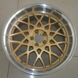 Rotiform Alloy Wheels with Gold Machine Lip