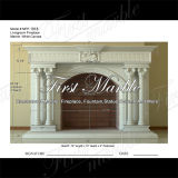 White Carrara Fireplace for Building Material Mfp-1018