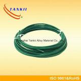 Type de câble de thermocouple de couleur verte K avec la gaine tressée d'acier inoxydable