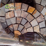 St-015 Rustic Brown Slate Meshed Paving Stone für Landscape