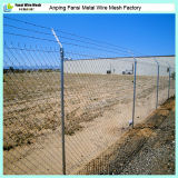 Sicherheits-Kettenlink-Zaun mit Rasiermesser-Draht oder Stacheldraht