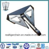 Stahl fabrizierter hoher Holding-Energien-Deltaanker mit CERT