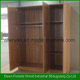 Wardrobe do quarto do gabinete do armário do projeto moderno de três portas