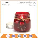 Kleine Glasmaurer-Gläser mit Kappen für Kerzen