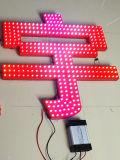 12mm 7개의 색깔 고품질 드러낸 LED 빛난 편지