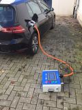 50kw type - 2 AC 22kw Chademo CCS het Laden EV Post