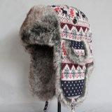 レディースメンズ男女兼用の雪はからかう帽子猫耳のスカーフによって編まれる帽子の飛行士の爆撃機の帽子マスクの爆撃機の帽子(HW804)を