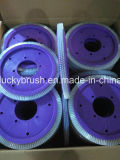 日本Wakayma設定Stenter (YY-666)のための黒い剛毛の車輪のブラシ