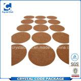 Escrituras de la etiqueta impermeables reciclables de las etiquetas engomadas de Kraft de la muestra libre