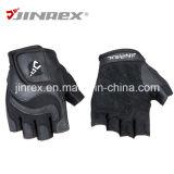 体操のトレーニング半分指の適性の革重量挙げのスポーツの手袋