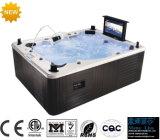 BALNEARIO caliente al aire libre del baño con TV, DVD